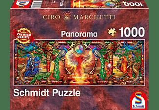SCHMIDT SPIELE (UE) Im Reich des Feuervogels 1000 Teile Puzzle Mehrfarbig
