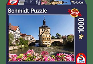 SCHMIDT SPIELE (UE) Bamberg, Regnitz und Altes Rathaus 1000 Teile Puzzle Mehrfarbig