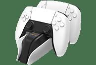 SNAKEBYTE snakebyte PS5 TWIN:CHARGE 5™ (WHITE), Zubehör für PS5, Schwarz/Weiß