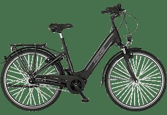 FISCHER Cita 4.1I Citybike (Laufradgröße: 26 Zoll, Rahmenhöhe: 41 cm, Unisex-Rad, 418 Wh, Schwarz matt)