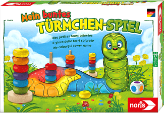 NORIS Mein buntes Türmchenspiel Kinderspiel Mehrfarbig
