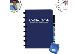 NTP Correctbook A5 blanko Notizbuch, Blau