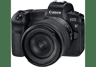 Cámara EVIL - Canon EOS R, 30.3 MP, Sensor CMOS, 4K, Bluetooth, WiFi, Negro + RF 24-105mm F4-7.1 IS STM