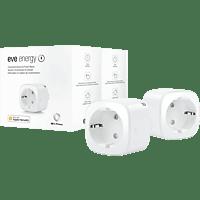 EVE Eve Energy, 2er Set Smarte Steckdose, smarte Verbrauchsmessung