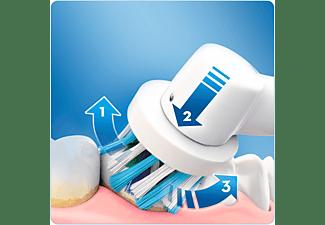 Cepillo Eléctrico - Oral B PRO 600 CROSS ACTION ORANGE Movimiento 3D, Indicador de batería,