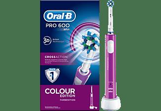 Cepillo Eléctrico - Oral B PRO 600 CROSS ACTION MORADO Movimiento 3D, Indicador de batería