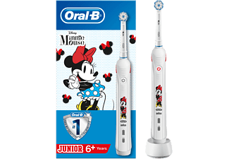 Cepillo eléctrico - Oral-B Junior, Protección encías, Filamentos suaves, Para niños, Minnie