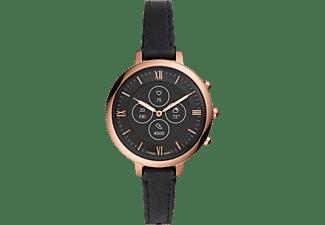 FOSSIL Monroe Smartwatch Edelstahl Echtleder, 175 mm, Rosegold/Schwarz