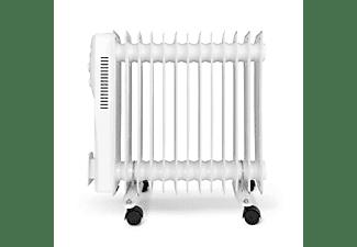 Radiador - OK Oro 4413 ES, 2500 W, 3 niveles, 13 elementos, Termostato ajustable, Ruedas incorporadas, Blanco