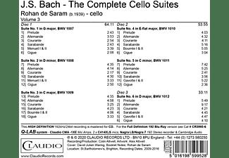 Rohan De Saram - Bach Suites  - (CD)