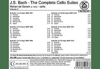 Rohan De Saram - Complete Cello Suites  - (Blu-ray Audio)