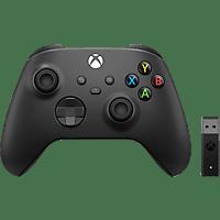 MICROSOFT Wireless Controller+ Wireless Adapter für Windows 10 Controller Schwarz