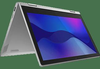 LENOVO IdeaPad Flex 3, Convertible mit 11,6 Zoll Display Touchscreen, Athlon Silver Prozessor, 4 GB RAM, 128 GB SSD, AMD Radeon Grafik, Platinsilber
