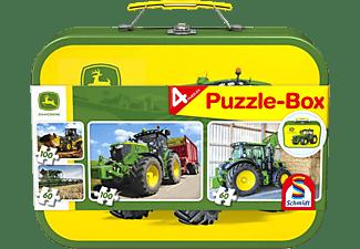 SCHMIDT SPIELE (UE) Puzzle-Box im Metallkoffer John Deere 2x60 und 2x100 Teile Puzzle Mehrfarbig
