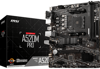 MSI A520M PRO Mainboard Schwarz