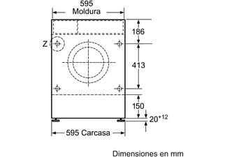 Lavadora secadora - Siemens WK12D322ES, Integrable, 7 kg/4kg, 1200 rpm, Blanco