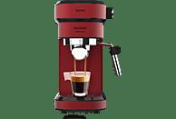 Cafetera express - Cecotec Cafelizzia 790 Shiny, 1350W, Calentamiento rápido, 20 bar, 1.2 L, 1-2 cafés, Rojo