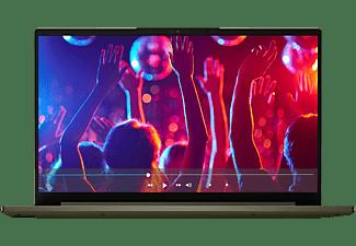 LENOVO Yoga Slim 7i EVO, Notebook mit 14 Zoll Display, Core™ i5 Prozessor, 16 GB RAM, 512 GB SSD, Intel Iris Xe Grafik, Moosgrün