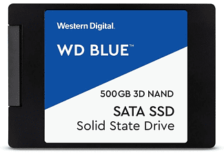 Disco duro interno 500 GB - WD Blue 3D NAND WDBNCE2500PNC, SSD, Para Windows, 530 MB/s, Negro/Azul