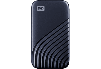 Disco duro externo 500 GB - WD My Passport SSD, Portátil, Lectura 1050 MB/s, USB 3.2, Para Windows y Mac, Azul