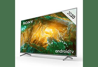 "TV LED 65"" - Sony KD65XH8077, UHD 4K, HDR, X1, SmartTV (AndroidTV), Asistente de Google, Triluminos, Plata"
