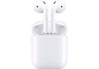 APPLE AirPods mit Ladecase (2. Generation), In-ear Kopfhörer Bluetooth Weiß