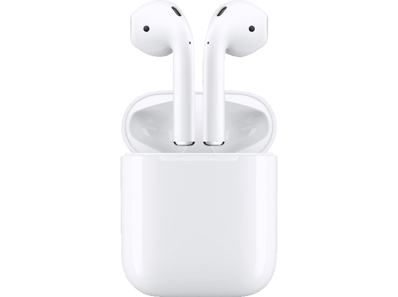 APPLE AirPods mit Ladecase (2. Generation), In-ear True-Wireless-Kopfhörer Bluetooth Weiß
