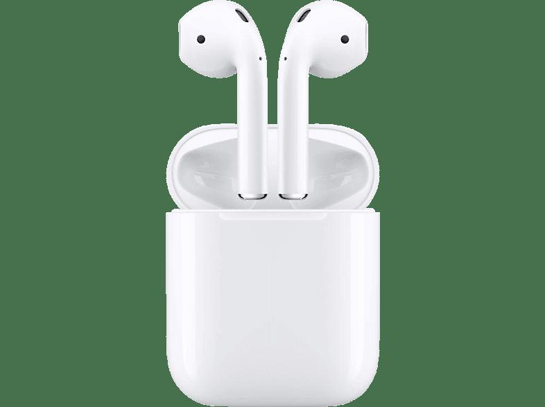APPLE AirPods mit Ladecase (2. Generation), In-ear Kopfhörer Bluetooth Weiß