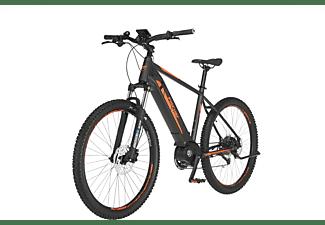 FISCHER Montis 4.0I Mountainbike (Laufradgröße: 27,5 Zoll, Rahmenhöhe: 48 cm, Unisex-Rad, 418 Wh, Schiefergrau  matt - signalorange)