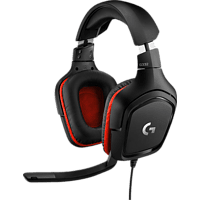 LOGITECH G332, Over-ear Gaming Headset Schwarz