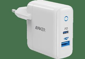 ANKER PowerPort PD+ 2 33Watt Ladegerät mit 2 Anschlüssen Ladegerät Universal, Weiß