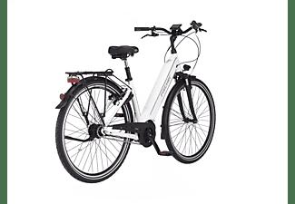 FISCHER Cita 3.1I Citybike (Laufradgröße: 28 Zoll, Rahmenhöhe: 44 cm, Unisex-Rad, 418 Wh, Weiß)