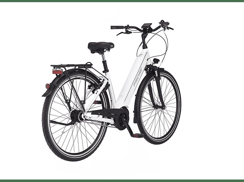 FISCHER Cita 3.1I Citybike (Laufradgröße 28 Zoll, Rahmenhöhe 44 cm, Unisex Rad, 418 Wh, Weiß)