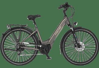 FISCHER Cita 6.0I Citybike (Laufradgröße: 28 Zoll, Rahmenhöhe: 44 cm, Unisex-Rad, 504 Wh, Platingrau matt)