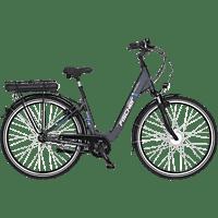 FISCHER ECU 1401 Citybike (Laufradgröße: 28 Zoll, Rahmenhöhe: 44 cm, Unisex-Rad, 522 Wh, Anthrazit matt)