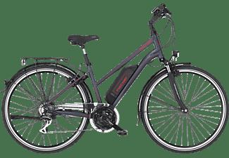 FISCHER ETD 1806 Lady Trekkingrad (Laufradgröße: 28 Zoll, Rahmenhöhe: 44 cm, Damen-Rad, 422 Wh, Dunkel anthrazit matt)