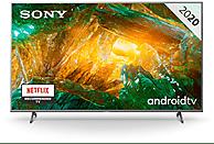 TV LED 55 - Sony KD55XH8077SAEP, UHD 4K, 3840x2160, 4K X-Reality, 4 HDMI, Android, Dolby Atmos, Plata