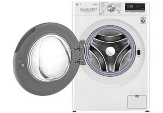 Lavadora carga frontal - LG F4WV5009S0W, 9 kg , 1400 rpm, 14 programas,  Blanco