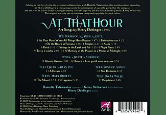 Danielle Talamantes - At That Hour-Lieder  - (CD)