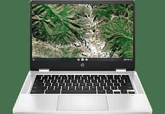 HP Chromebook x360 14a-ca0326ng, Chromebook mit 14 Zoll Display Touchscreen, Intel® Celeron® Prozessor, 4 GB RAM, 64 GB eMMC, Intel® UHD Grafik 600, Silber