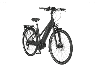 FISCHER Viator 4.0I Trekkingrad (Laufradgröße: 28 Zoll, Rahmenhöhe: 44 cm, Damen-Rad, 418, Schwarz matt)