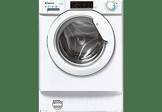 Lavadora integrable - Candy Smart CBW48TWME-S, 8kg, 1400rpm, Inverter, 9 ciclos rápidos, Escotilla XXL, Blanco