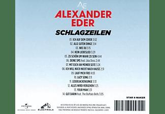 Alexander Eder - Schlagzeilen  - (CD)