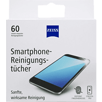 ZEISS Smartphone-Reinigungstücher 60 Stück, Reinigungsset, Weiß