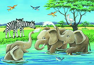 RAVENSBURGER Tierkinder aus aller Welt Puzzle Mehrfarbig