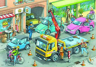 RAVENSBURGER Müllabfuhr und Abschleppwagen Puzzle Mehrfarbig