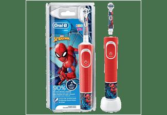 Cepillo de dientes - Oral-B D100.413.2K Vitality Kids Spiderman CLS, CrossAction, 2 velocidades, Rojo