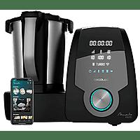 Robot de cocina - Cecotec Mambo 10070, 30 funciones, 10 velocidades, Compatible con App, Negro