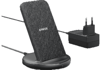 ANKER Induktions-Ladegerät 15 Watt Powerwave II Stand Ladegerät Universal, Schwarz/Grau