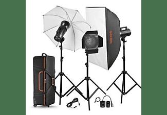 GODOX Studioblitz Kit GS200II mit Lichtstativen, Lichtformer und Transporttasche